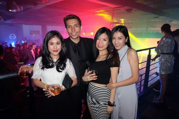 Celebrity Josiah Mizukami with his friends
